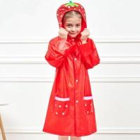 Jas hujan anak / mantel / animal / lucu / warna / strawberry - MJ2200