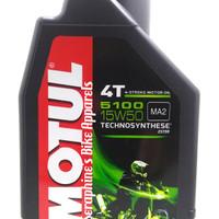 OLI MOTOR MOTUL 5100 4T 15W50 1L TECHNOSYNTHESE ESTER (100% ORIGINAL)