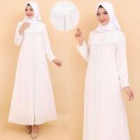 Gamis Putih Premium / Gamis Lebaran / Gamis Syari / Gamis Pesta 1142