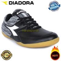 Sepatu Futsal Pria Diadora Lece ID DIAFG80304BK - Black ORIGINAL
