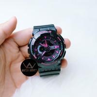 Jam Tangan Wanita Cewek BabyG BA110 sporty Rubber Strap black Pink