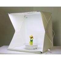 Photo Studio Mini Box Portable dengan Lampu LED dan 4 Latar - PS800
