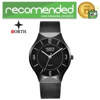 NORTH Jam Tangan Analog Kasual Strap Stainless Steel - 7701 - Hitam