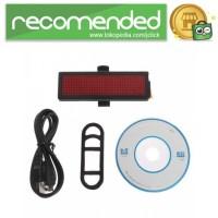 Lampu Belakang Sepeda LED Tail Light DIY Word Display - Hitam