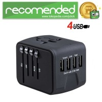 Travel Adapter Universal Plug EU UK AU with 4 USB Port 3.4A - 199-4U