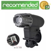 Lampu Sepeda USB Rechargeable LED XPG - 2256 - Hitam