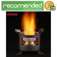 Alocs Kompor Gas Alcohol Stove Portable untuk Camping - CS-B13 - Hitam