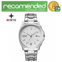 NORTH Jam Tangan Analog Kasual Stainless Steel - 7702 - Silver Putih