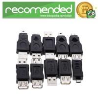 OTG Adapter Converter USB Male to Female 10PCS - Hitam
