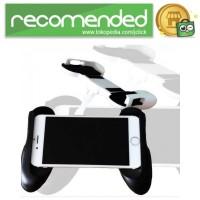 Mobile Gamepad Hand Grip Holder for Smartphone - Hitam
