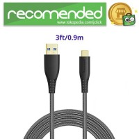 Tronsmart Kabel Charger USB Type C 3.0 Braided Gold Plated - TAC01 -