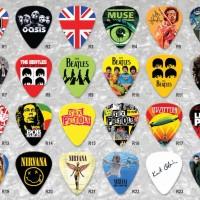 Pick Gitar Rock Band 0.46mm 0.71mm 1.0mm Plectrum Guitar Celluloid