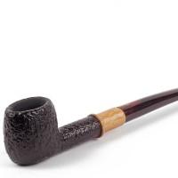 Savinelli Qandale Rusticated 901 (6mm) Pipa Cangklong Briar Wood Pipe