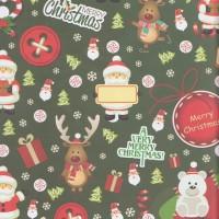 "Kertas kado Sansan Wawa SW-164 ""Christmas/Natal"""