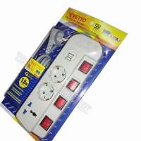 Best Stop Kontak - Colokan Listrik 1.5m 3 Lubang Plus 2 Slot USB 3.0