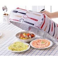 Harga tudung saji lipat besar aluminium foil penutup makanan tahan | antitipu.com