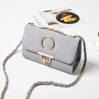 tas wanita cewek kado cantik unik keren hadiah murah grey