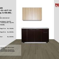 Lemari Dapur Fungsional PG-09 : D120/30+80+40/T150