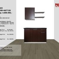 Lemari Dapur Fungsional PG-03 : D60+60a/80+40/T120