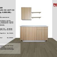 Lemari Dapur Fungsional PG-08 : D60+60a/30+60+60/T150
