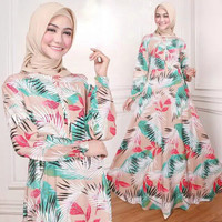Gamis Katun Rayon Printing Ori Indah07 Coksu