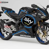 Decal Stiker CBR250RR Black SKY VR46 racing team