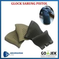 Glock Sarung Grip Pistol Rubber Antiskid Holster 17 19 20 21 22 31 32
