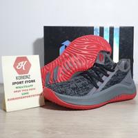 Sepatu Basket Adidas Damian dlillard Dame 4 Grey Black Red Bred Termu