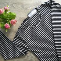 Harga baju manset hitam putih nissa   antitipu.com