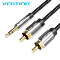 Vention Kabel 3.5mm Male ke 2 RCA Male HiFi - 500cm - black