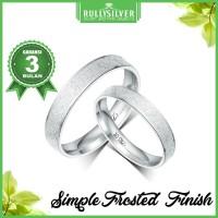 Promo Cincin Couple Perak Simple Frosted Ring Terkeren