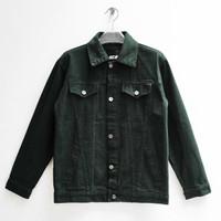 Scape Gear Hamilton 2 Denim Trucker Jacket Jeans Jaket Green Hijau Tua
