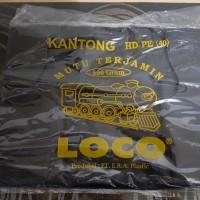 KANTONG PLASTIK LOCO TEBAL HITAM UKURAN 40
