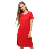 LEMONE T-shirt Kaos Cewe Spandek Premium Dress Wanita 12100033 Polos