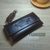 dompet lipat panjang wanita/dompet pria kulit asli