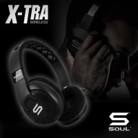 X-TRA Performance Bluetooth Over-Ear Headphones for Sports SOUL Black