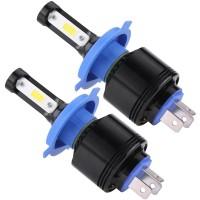1 Pasang Lampu Kepala Mobil LED H4 72W 4000LM 6500K