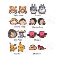 Anting Stud Japan Sailormoon Totoro One Piece Maruko Pikachu Shinchan