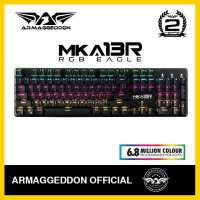 Keyboard Gaming Armaggeddon MKA 13R RGB Mechanical (Blue Switches)