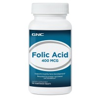 GNC Folic Acid 400 100 Vegitabs