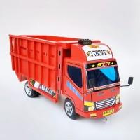 Truk kayu mobil mainan anak