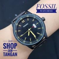 jam tangan fossil untuk pria leather diameter kecil jun shop jam tan