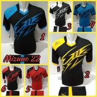 Jual Baju Kaos Olahraga Jersey Bola Kostum Setelan Volly Futsal mizuno 10 Murah