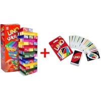 Harga uno stacko mainan balok susun tower stacko board kartu   Pembandingharga.com
