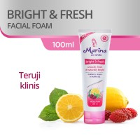 Marina UV White Facial Foam [100 mL] Bright and Fresh Cleanser