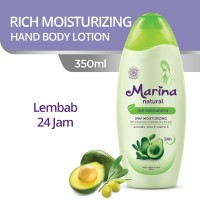 Marina Hand and Body Lotion Natural [350 mL] - Rich Moisturizing