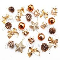 Promo AP130 Hiasan Pohon Natal Mix Isi 24 | Topi Bando Dekorasi