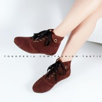 Sepatu Boot murah keren TARA BOOTS SM160 Tan high Heels boot wanita