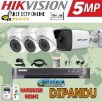 Paket CCTV Hikvision ( 4 Kamera ) High Res Instalasi Pasang Dipandu