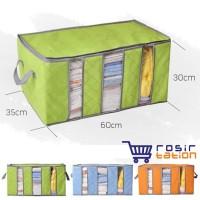 STORAGE BOX 65 liters bamboo charcoal clothing boxes 3 layer baju